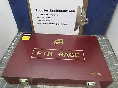 "ZHANGDA PIN GAGE SET M1M Minus 0.0610"" ~ 0.2500"" Wood Case 190 Pieces [B5S4]"
