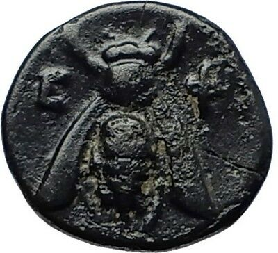 EPHESOS in IONIA Genuine 387BC Bee Female Authentic Ancient Greek Coin i70389