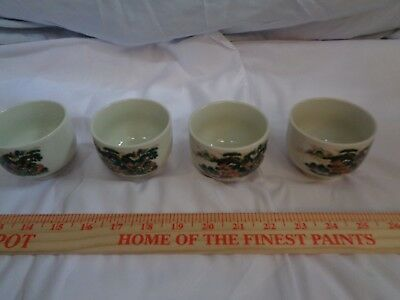 Preowned Vintage Japanese Asian Ceramic Tea Cups