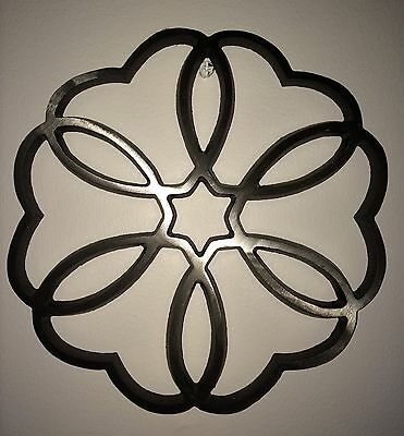 "Large Cast Iron Trivet heart design Dansk 9 3/4"" Across. perfect  gift"