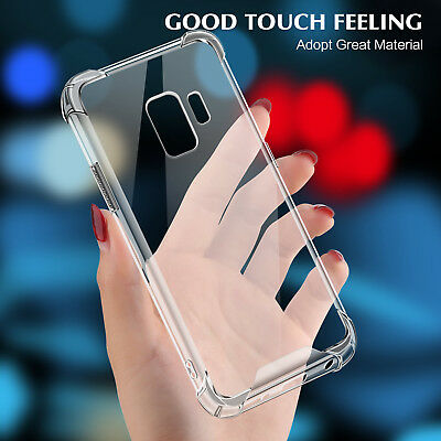 For Samsung Galaxy S7 S8 S9 Plus Note 8 Case Shockrpoof Clear Hard PC Slim Cover