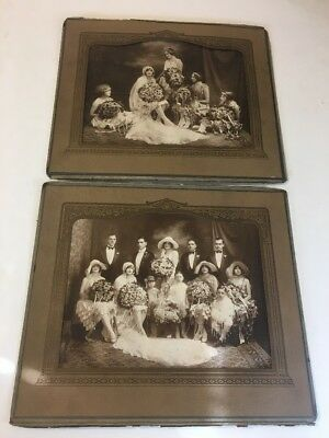 Lot of 2(two) Stunning Antique Photograph WEDDING PARTY Portrait