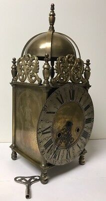 Lovely Vtg John Smith London Large Bell Strike Clock Hermle Skeleton Socrates