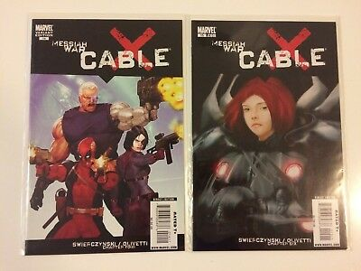 Lot of 2 Cable Vol 2 #14 Ariel Olivetti Variant, 15 Marvel Comics (2008) VF/NM
