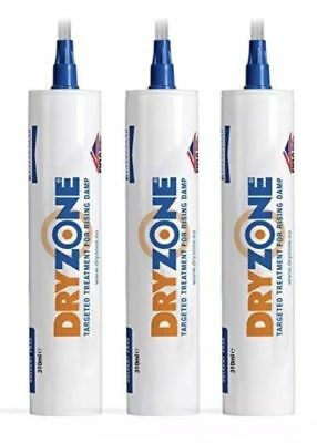 3 x Tubes Dryzone Dpc Injection Cream 310ml | Damp Proof Injection Cream