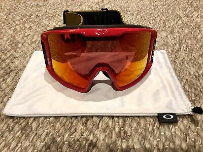 Line Miner Red Burnished Iron with Prizm Torch Iridium Oakley Goggles