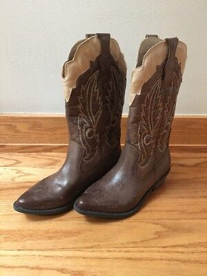 37a5a4c7346 NEW Coconuts by Matisse Women's Cowgirl Boots Cimmaron Choco/Beige Size 6M