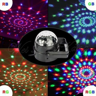 Sound Active RGB LED Stage Light Crystal Ball Disco Xmas Club DJ Party + Remote,