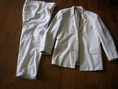 Man's, vintage, white linen suit