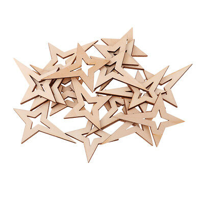 Natural Wooden Star Shape Embellishment for DIY Craft Gift Tags Decoration