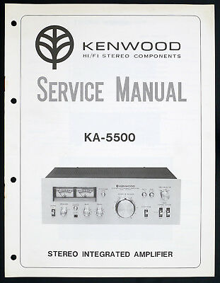KENWOOD KA-5500 Original Integrated Amplifier/Verstärker Service-Manual o136