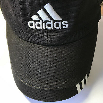 c89f2b8057d ADIDAS TaylorMade GOLF HAT r7 BLACK Mesh ClimaCool Poly Baseball Cap Fitted  band
