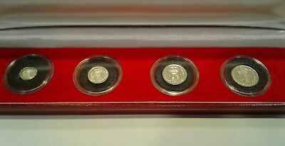 1904 Great Britain 4 Coin Maundy Set with Case