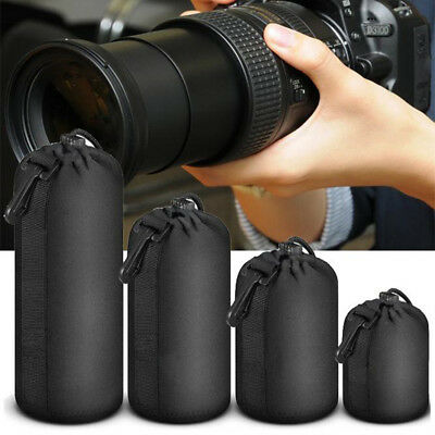 For Canon Nikon Sony bag Camera Neoprene DSLR Lens Soft Pouch Protector Bag