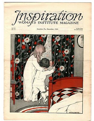 December 1926 Inspiration Magazine Woman's Institute Fashion Vintage Christmas