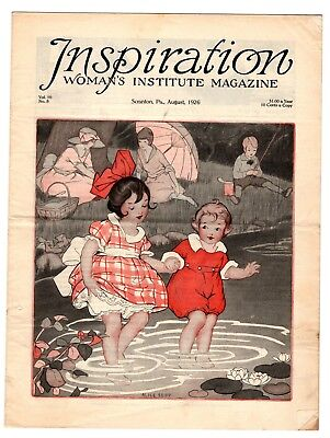 1926 Inspiration Magazine Woman's Institute Vintage Fashion Millinery ORIGINAL