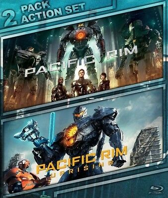 Pacific Rim + Pacific Rim Uprising ***2 Pack Action Set (Blu Ray)***