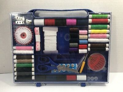 New Sewing Kit Measure Scissor Thread Needle Bobbins Storage Box Travel Set
