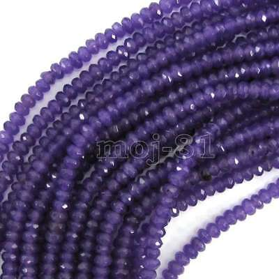 """2x4mm Natural Faceted Amethyst Rondelle Gemstone Loose Beads 15"""" AAA"""