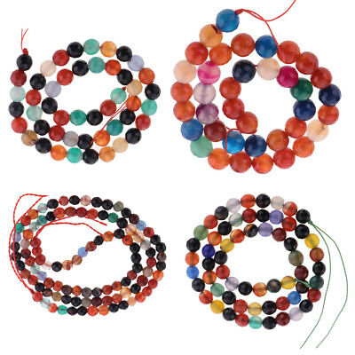 MagiDeal Quality Round Agate Stone Loose Beads for Bracelet Necklace Making