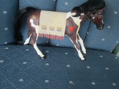 Marchon Grand Champions ? plastic figure pinto horse branded western blanket Asi