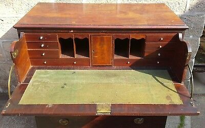 Antique Georgian Flame Mahogany Chest of Drawers Secretaire Renovation Project