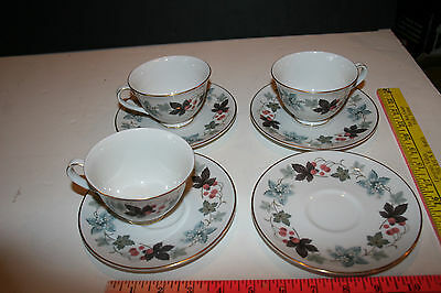 7 Pc Royal Doulton Camelot Cups & Saucers Tc1016 English Translucent China