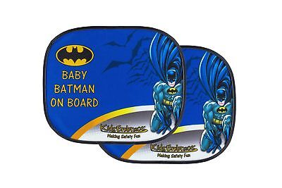 KidsEmbrace Batman Car Sun Shade, DC Comics Baby On Board Window Shade, 2 Pac...