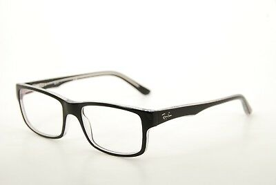 New Authentic Ray Ban RB 5245 2034 Black/Clear 54mm Eyeglasses Frames RX