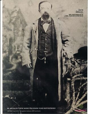 Print Ad~2007~Jack Daniel~Whiskey~Old Time Photo of Him~Advertisement~H600