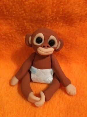 Adorable Large Orangutan Baby Figurine -  New OOAK - Handmade