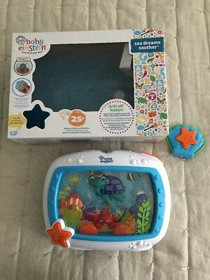 Baby Einstein Sea Dreams Crib Soother Music Motion #90609 Remote & Hang- EUC!