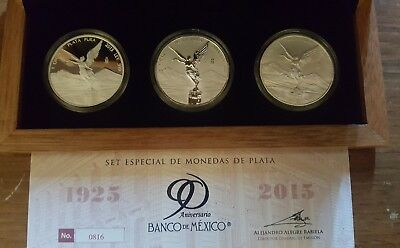 2015 Mexico Libertad Reverse Proof 3 Coin Set