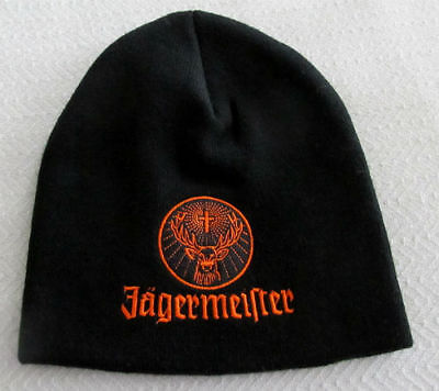 NWOT - JAGERMEISTER Beanie Stocking CAP Hat - BLACK & ORANGE - Adult Size