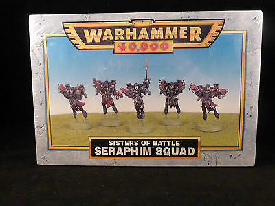 Classic 40K Sisters of Battle Seraphim Squad Metal Sealed Boxed Set