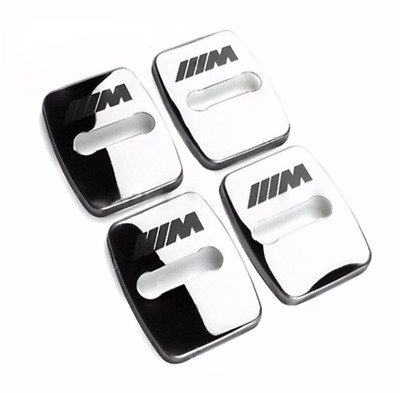 BMW M Sport 4pcs/set Car Door Lock Covers Styling Buckle Chrome Alloy All Series