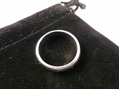 Unisex Classic Silver Plated Solid Plain Ring Size 8/P with Free Gift Bag
