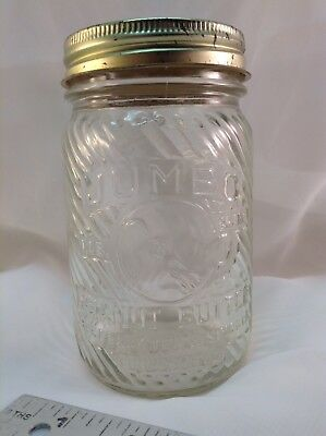 1LB. JUMBO PEANUT BUTTER GLASS STORE JAR FRANK TEA & COFFEE Co. CINCINNATI, OHIO