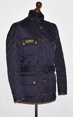 """Men's Barbour International Quilted Jacket Mqu0338Ny91 S Fits M P2P 21.5"""" Euc"""