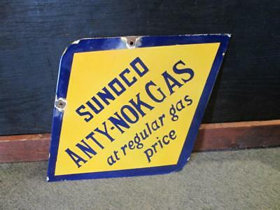 sunoco gas sign anty nok gas double sided sign porcelain sign MAKE AN OFFER!!!!