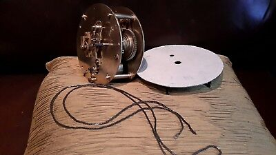 Brass fusee ships clock movement, for spares or repair