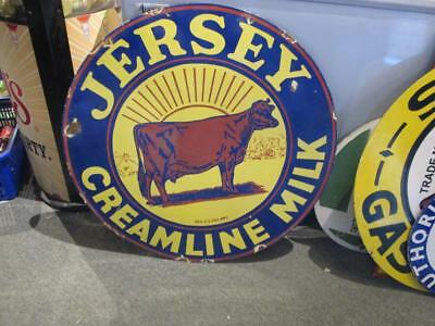 jersey milk 30in porcelain sign double sided gas sign MAKE AN OFFER!!!!!!!!!!