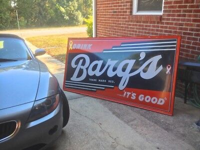 Antique Barq's Rootbeer Sign 4ft.x 8ft. - Excellent condition.
