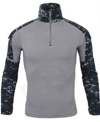 KSK EGB Combat Shirt Digital Camo blue/grey Gr. L ESDY NEU OVP NAVY SEALS