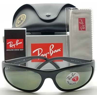 39f73a5a4538 NEW Rayban Sunglasses RB4033 601S48 Black Grey Green Polarized 4033 GENUINE  wrap