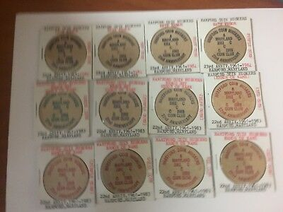 Wooden Tokens Nickels All With Errors Lot Of 12  #635