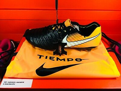 NIKE TIEMPO LEGEND VII FG BLACK LASER ORANGE VOLT MENS (897752-008) Retail 037660486