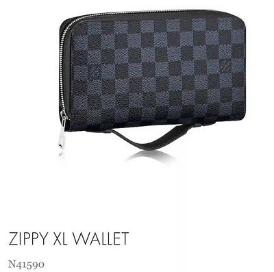 Louis Vuitton Damier Cobalt Blue XL Zippy Wallet Organizer N41590 Brand New