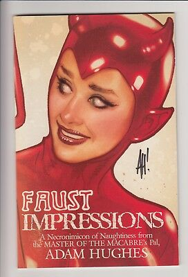 Adam Hughes Faust Impressions Sketchbook & Postcard Harley Quinn Catwoman Sexy