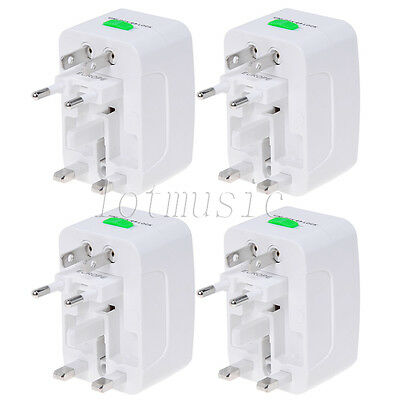 4Pcs Universal Travel AC Power Adaptor Adapter Converter Plug AU UK US EU HK JP